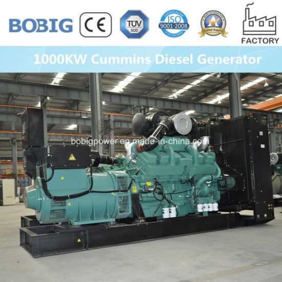 1000kw Cummins Open Diesel Generators Price for Sales